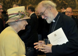 Archbishop of Canterbury Rowan Williams and the Queen of England