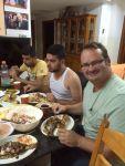 At a Ramadan Iftar dinner in Beit Hanina
