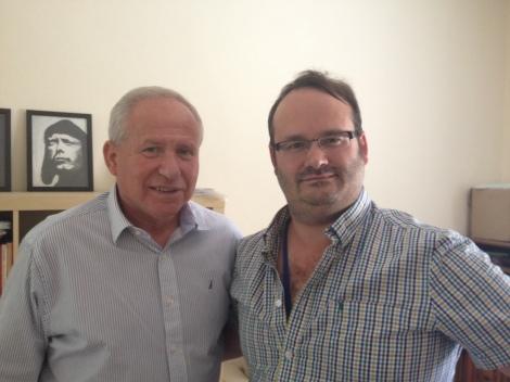 With former Israeli Min. of Internal security, Avi Dichter