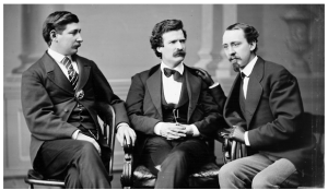 Mark Twain with friends (Library of Congress/Wikimedia commons)