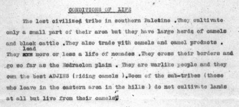 Detail from 1920 document reveals Azazmeh history