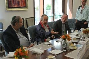 José Piñera (Center) with Bob Borens (right) of the The Friedberg Economics institute