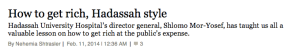 Haaretz looks at Hadassah