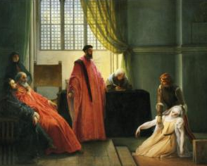 Valenza Gradenigo before the Inquisitor painted by Francesco Hayez