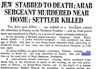 Palestine Post clipping from 1938