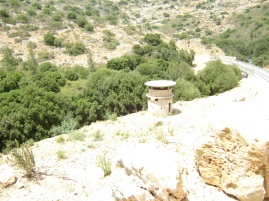 A pillbox on the railway line near Malha