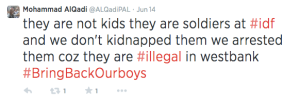 One of AlQadi's tweets