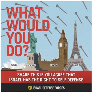 An IDF tweet