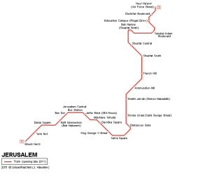 The light rail line