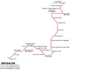 The light rail line