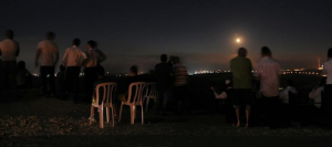 "People gather to ""watch the war"" near Sderot"