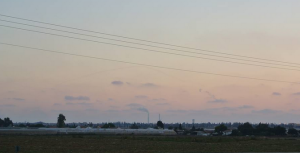 An Iron Dome rocket intercepts a Katyusha over Ashkelon