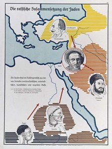 "An anti-semitic poster claims to show the ""origins of the Jews"""