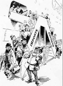 An anti-semitic poster in Australia about Jewish immigration in 1950s