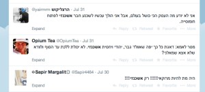 Tweets with Hebrew word 'Ashkenazi' on Twitter