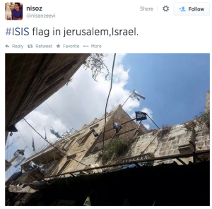 "Other ""ISIS"" flags in the Old City"