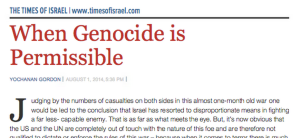 """When genocide is permissible"""