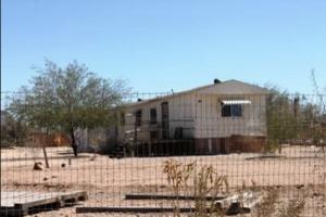 A mobile home in Arizona