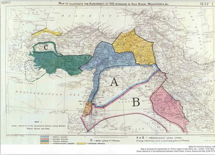 Sykes Picot Caused Current Mid East Problems