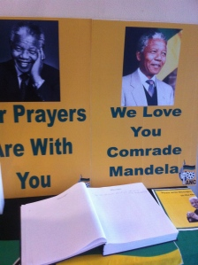 Signing the Mandela guest book in Durban (Seth J. Frantzman)