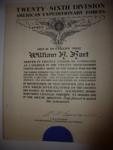 William Hart's citation from his commanding officer
