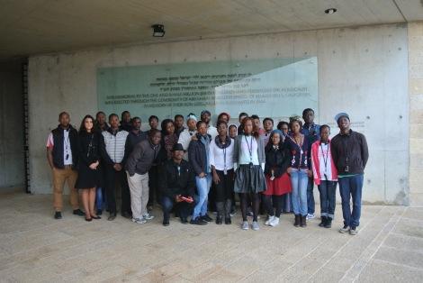 DEISI visitors at Yad Vashem (Seth J. Frantzman)