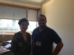 Haneen Zoabi with the author (Seth J. Frantzman)