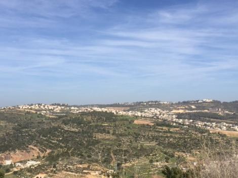Tzuba overlooks the Jerusalem hills