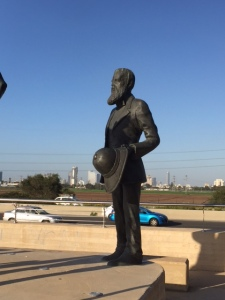 The Herzl statue
