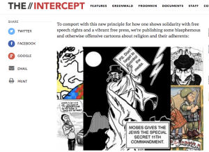 The Intercept published anti-Jewish cartoons, screenshot