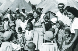 Yemenite Jews in a camp in Israel