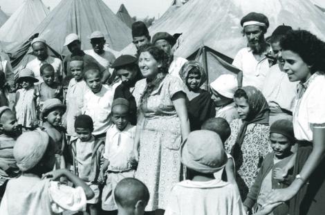 Yemenite Jews in a camp in Israel
