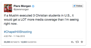 Morgan was outraged over Chapel Hill