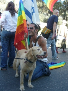 A gay pride parade in Jerusalem (Seth J. Frantzman)