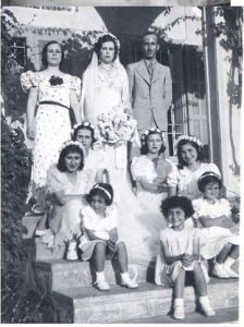 Taji family in Wadi Hunein, 1920s (Palestine Remembered)