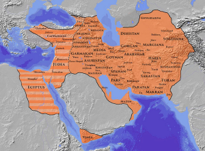 The height of Persian control under the Sasanids (Wikimedia)