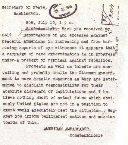 The memo Morgenthau wrote