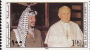 Pope John Paul II met Arafat 14 times and supported the Palestinians