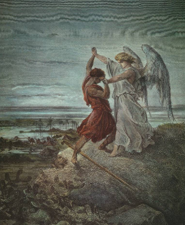 Jacob wrestles the angel. Is Obama Jacob or the angel?