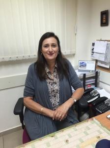 Siboni at the office (Seth J. Frantzman)