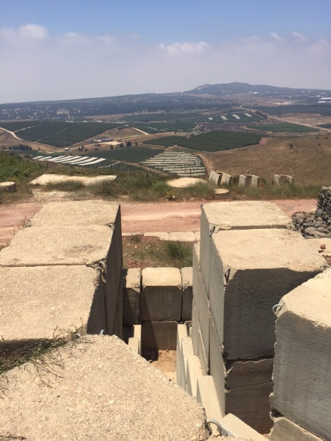An abandoned military position overlooking Syria from the Golan (Seth J. Frantzman)