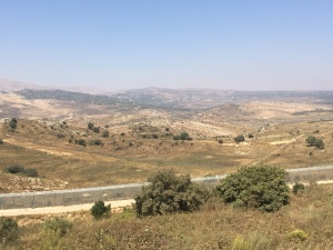 Overlooking a Druze village in Syria from near Majdal Shams