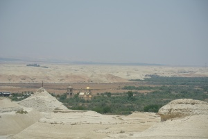 A view of the Jordan river valley and churches near the baptism site (Seth J. Frantzman)