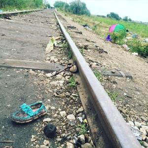 A show of a refugee near the Hungarian border (Seth J. Frantzman)