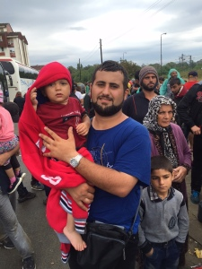 A Syrian refugee in Macedonia (Seth J. Frantzman)