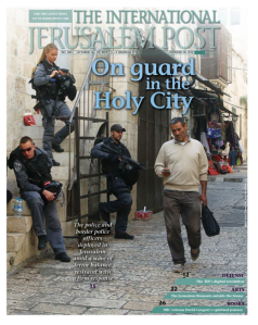 This article appeared on the cover of the International edition of The Jerusalem Post.