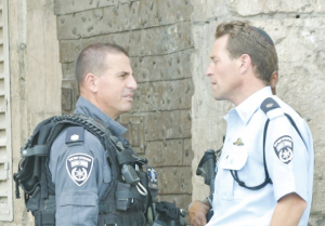 Micky Rosenfeld with a Yasam commander. (Seth J. Frantzman)
