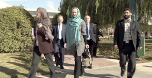 """Eu diplomats  cover their hair and become second class people in Iran to """"respect"""" Iranian laws"""